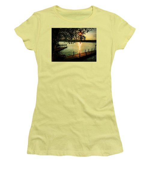 Sunset Bay Women's T-Shirt (Athletic Fit)