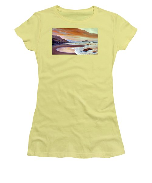 Sunset Beach Women's T-Shirt (Junior Cut) by Michael Rock