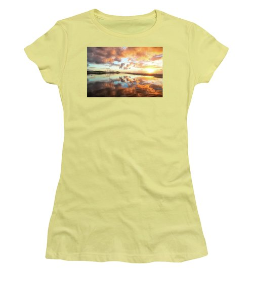 Sunset Beach Reflections Women's T-Shirt (Athletic Fit)