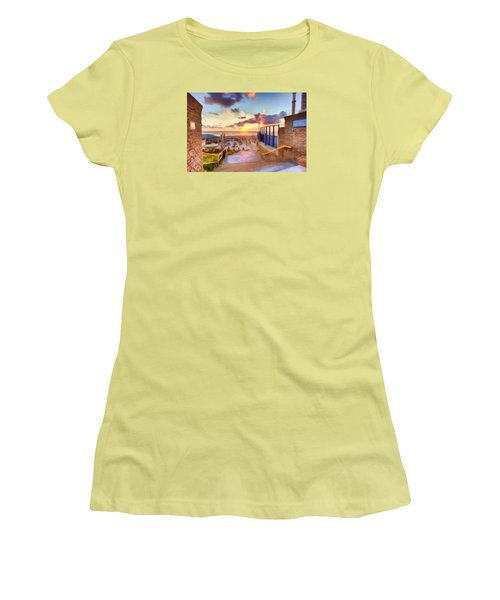Sunset By The Sea Women's T-Shirt (Junior Cut) by Nadia Sanowar