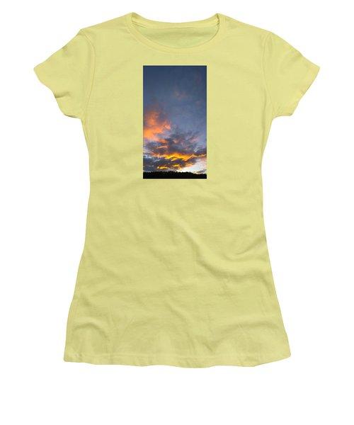 Sunset Cloud Scape Over Bryson City Nc Women's T-Shirt (Junior Cut) by Kelly Hazel