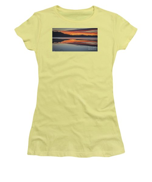Women's T-Shirt (Junior Cut) featuring the photograph Sunset Colors by Mitch Shindelbower