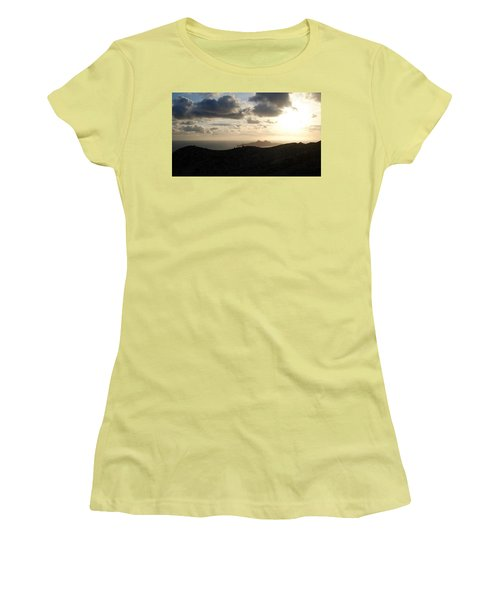 Sunset Dragon Island Women's T-Shirt (Athletic Fit)