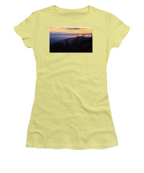 Sunset From Caps Ridge, Mount Jefferson Women's T-Shirt (Athletic Fit)