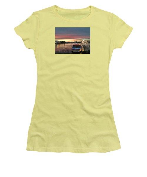 Sunset From The Boardwalk Women's T-Shirt (Junior Cut) by John Black