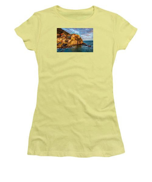 Sunset In Manarola Women's T-Shirt (Athletic Fit)
