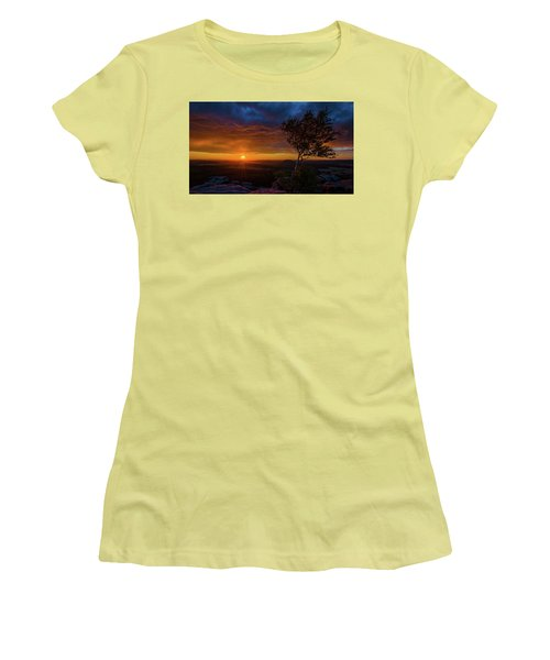 Sunset In Saxonian Switzerland Women's T-Shirt (Athletic Fit)