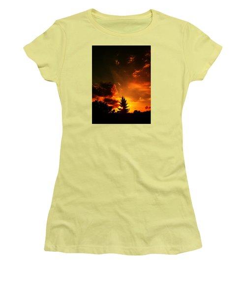 Sunset Madness Women's T-Shirt (Junior Cut) by Flavien Gillet