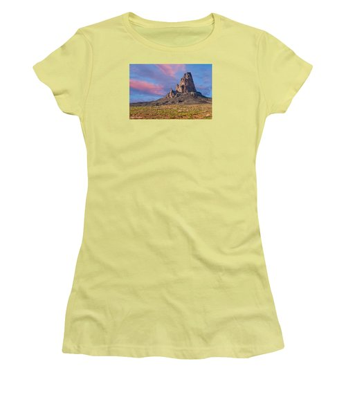 Sunset On Agathla Peak Women's T-Shirt (Athletic Fit)