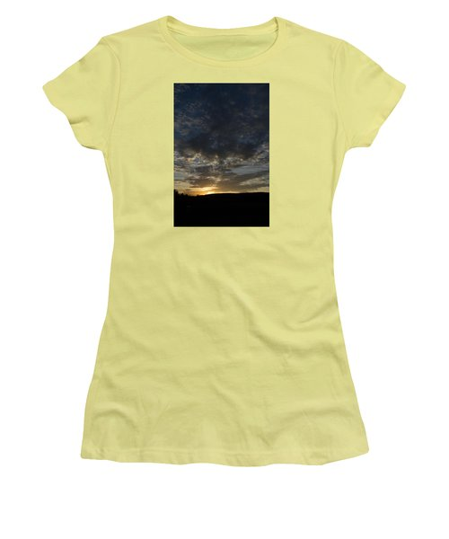 Sunset On Hunton Lane #2 Women's T-Shirt (Junior Cut) by Carlee Ojeda