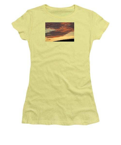 Sunset On Hunton Lane #7 Women's T-Shirt (Junior Cut) by Carlee Ojeda