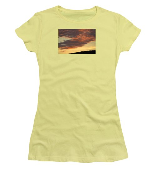Sunset On Hunton Lane #7 Women's T-Shirt (Athletic Fit)
