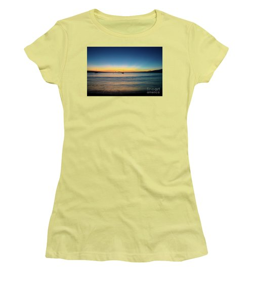 Sunset On Ka'anapali Beach Women's T-Shirt (Athletic Fit)
