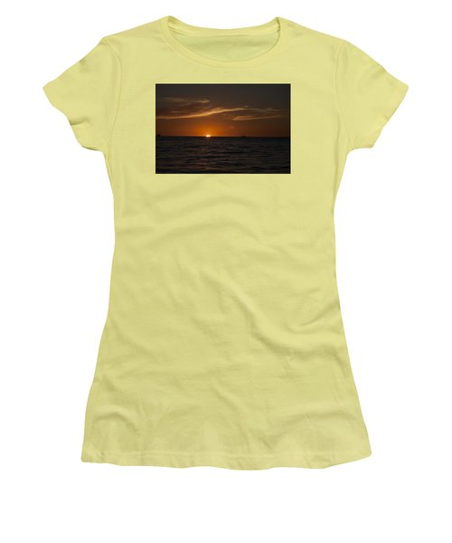 Sunset On Sea Of Cortez Women's T-Shirt (Athletic Fit)