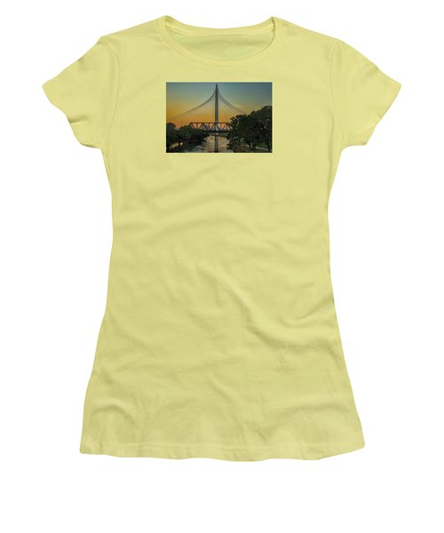 Sunset On The Trinity Women's T-Shirt (Junior Cut) by Diana Mary Sharpton