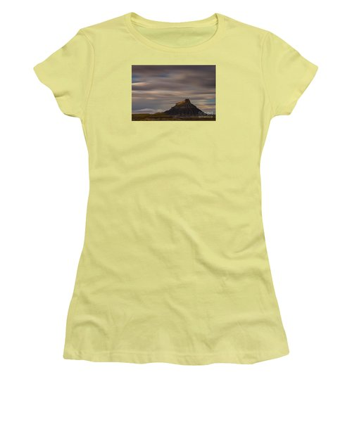 Women's T-Shirt (Junior Cut) featuring the photograph Sunset Over Factory Butte by Keith Kapple