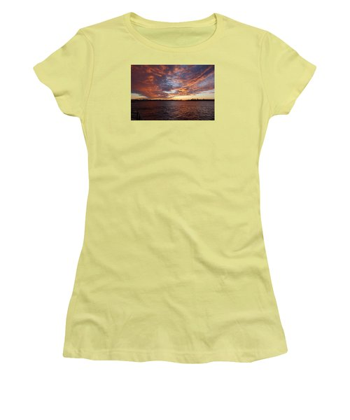 Sunset Over Manasquan Inlet Women's T-Shirt (Athletic Fit)