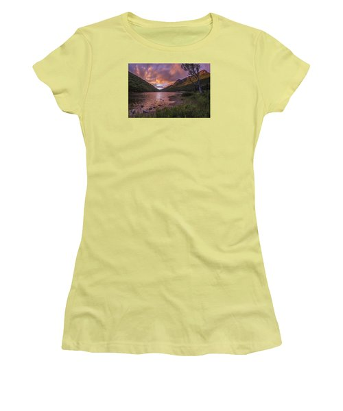 Sunset Over Profile Lake Women's T-Shirt (Athletic Fit)