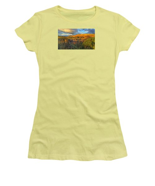 Sunset Over The Campsie Fells Women's T-Shirt (Junior Cut) by RKAB Works