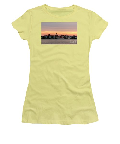 Sunset Over The Grand Floridian Women's T-Shirt (Athletic Fit)