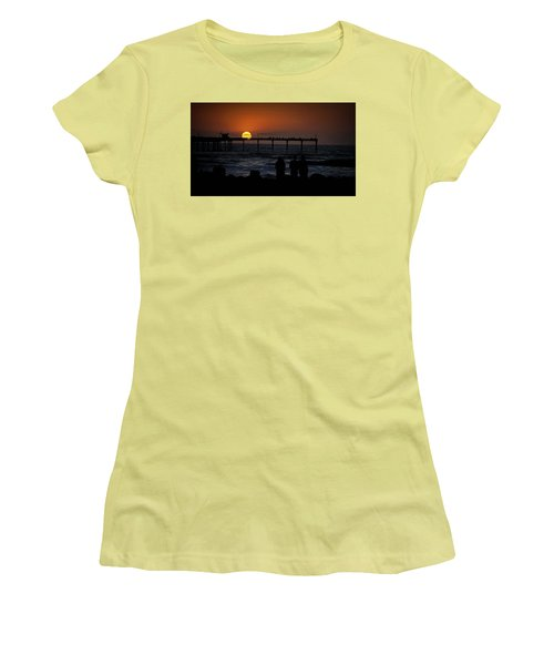 Sunset Over The Pier Women's T-Shirt (Athletic Fit)