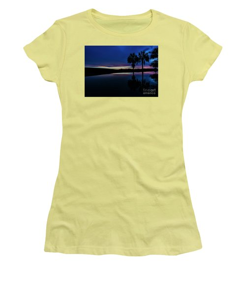 Sunset Palms Women's T-Shirt (Athletic Fit)