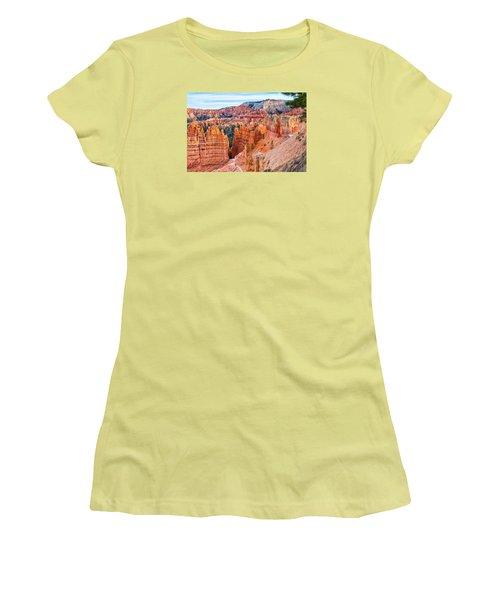 Women's T-Shirt (Junior Cut) featuring the photograph Sunset Point Tableau by John M Bailey