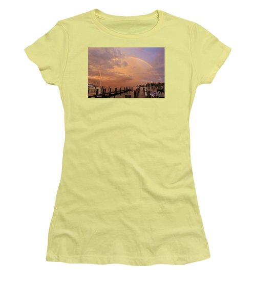 Sunset Rainbow Women's T-Shirt (Athletic Fit)