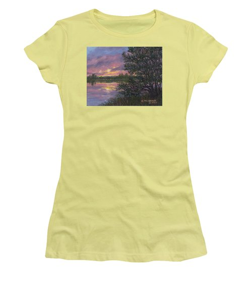 Sunset River # 8 Women's T-Shirt (Athletic Fit)