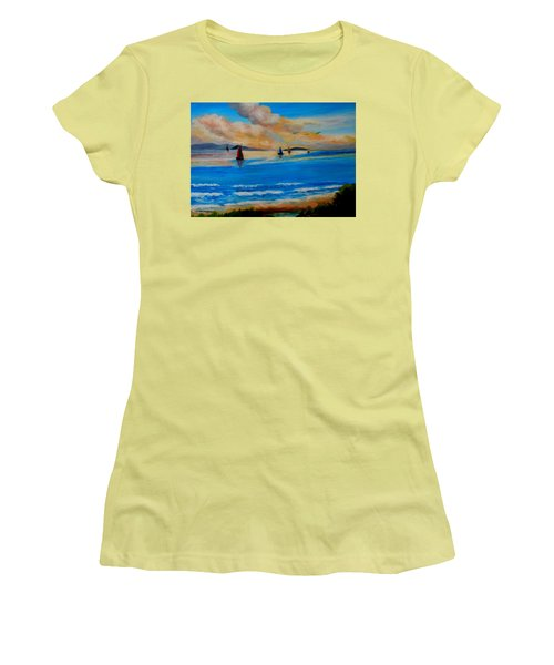Sunset Sailing Women's T-Shirt (Athletic Fit)