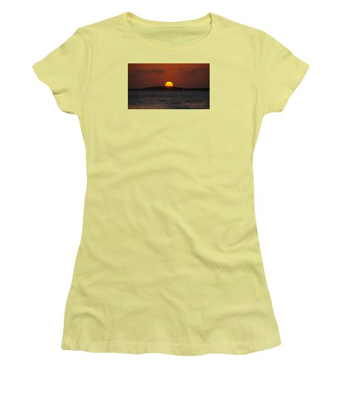 Sunset Seven Mile Bridge Women's T-Shirt (Athletic Fit)