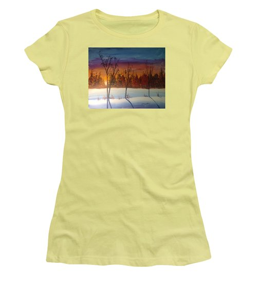 Sunset Snow Women's T-Shirt (Athletic Fit)