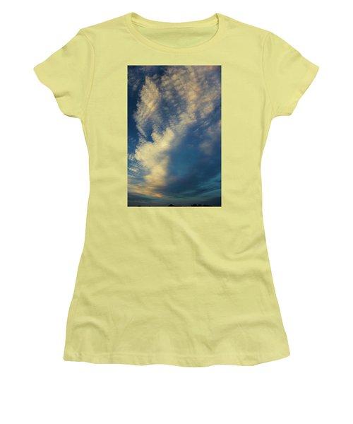 Women's T-Shirt (Junior Cut) featuring the photograph Sunset Stack by Karen Slagle