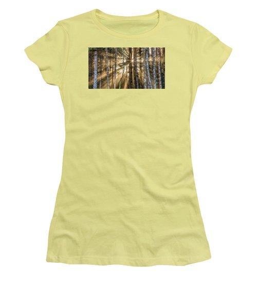 Sunshine Forest Women's T-Shirt (Junior Cut) by Pierre Leclerc Photography