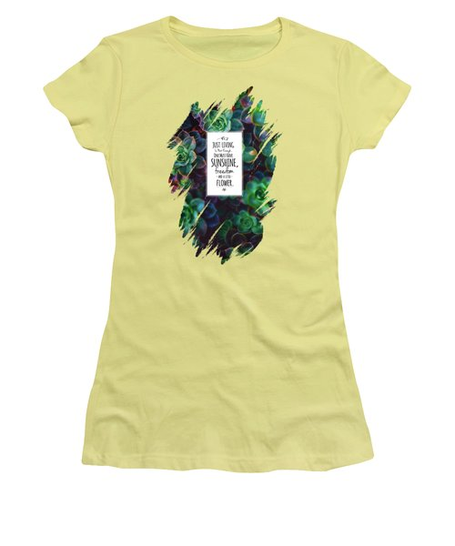 Sunshine, Freedom, Flower Women's T-Shirt (Junior Cut) by Atelier Seneca