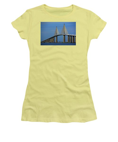 Sunshine Skyway Bridge Women's T-Shirt (Athletic Fit)