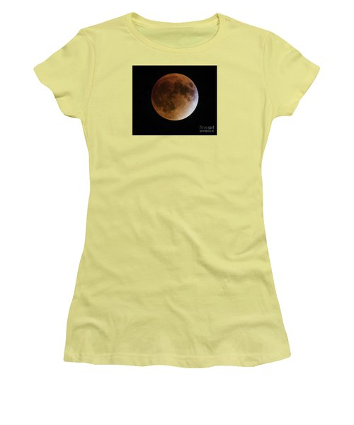 Women's T-Shirt (Junior Cut) featuring the photograph Super Blood Moon Lunar Eclipses by Ricky L Jones
