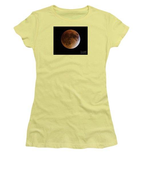 Super Blood Moon Lunar Eclipses Women's T-Shirt (Junior Cut)