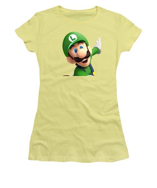 Super Luigi Women's T-Shirt (Junior Cut) by Sheila Mcdonald