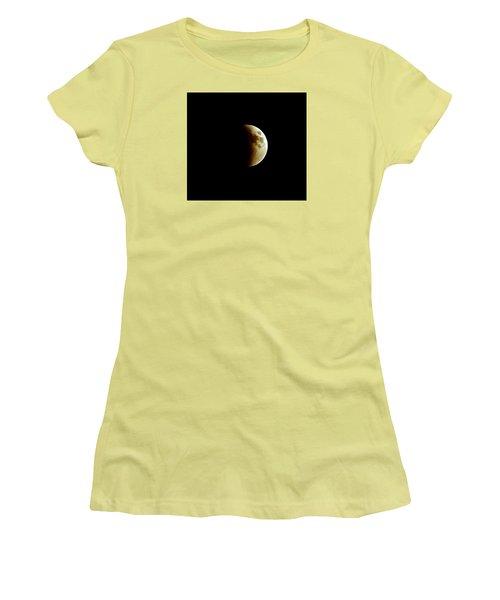 Super Moon Eclipse 2015 Women's T-Shirt (Junior Cut) by Diana Angstadt