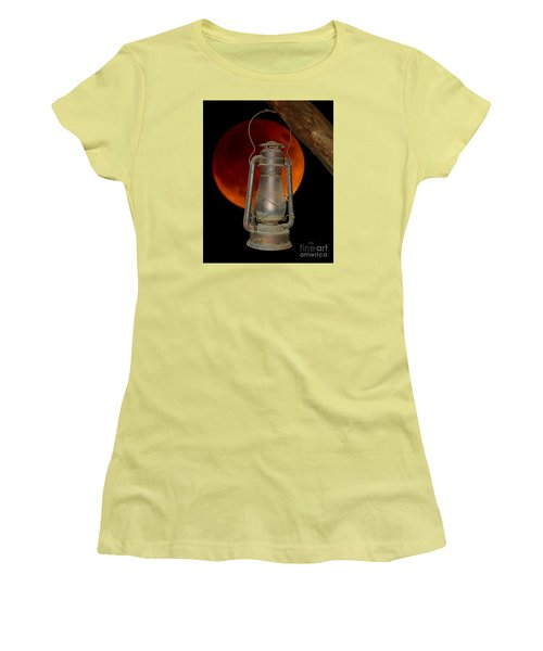 Eerie Light Of An Eclipsed Super-moon Women's T-Shirt (Athletic Fit)