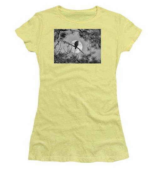 Super Moon Hawk Women's T-Shirt (Athletic Fit)
