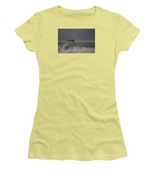 Women's T-Shirt (Junior Cut) featuring the photograph Super Surfing by Robert Banach
