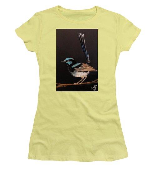Superb Blue Wren Women's T-Shirt (Athletic Fit)