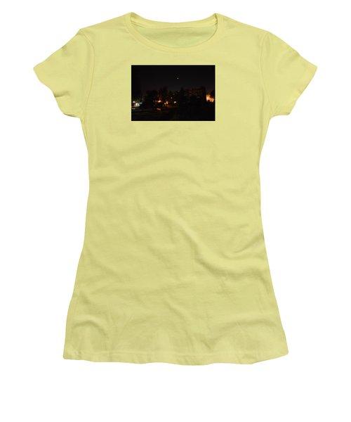 Supermoon Women's T-Shirt (Junior Cut) by Henryk Gorecki