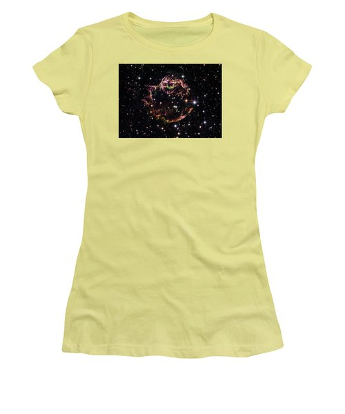 Women's T-Shirt (Junior Cut) featuring the photograph Supernova Remnant Cassiopeia A by Marco Oliveira