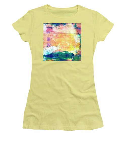 Women's T-Shirt (Junior Cut) featuring the painting Surface Vector by Dominic Piperata