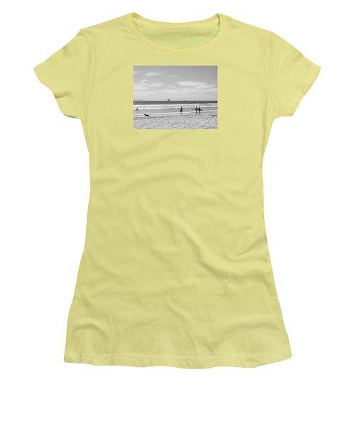 Strollin On Dog Beach Women's T-Shirt (Athletic Fit)