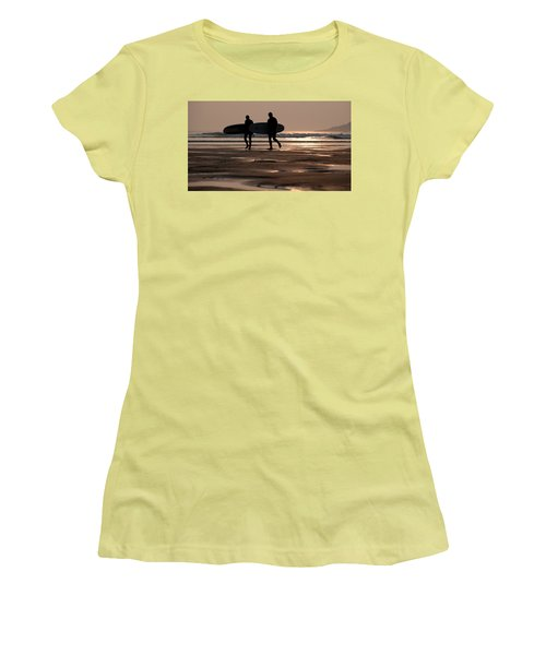 Surfers At Sunset Women's T-Shirt (Athletic Fit)