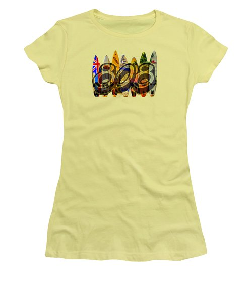 Surfin' 808 Women's T-Shirt (Athletic Fit)